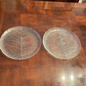 Arcoroc France Aspen Leaf Platters